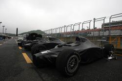 Cars under veil