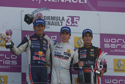 Podium: Jean-Eric Vergne, Esteban Guerrieri and Albert Costa
