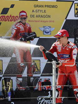 Podium: third place Nicky Hayden, Ducati Marlboro Team