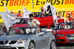 Drivers parade: Congfu Cheng, Persson Motorsport