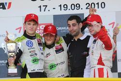 Podium: race winner Jim Pla, ART Grand Prix Dallara F308 Mercedes, second place Marco Wittmann, Signature Dallara F308 Volkswagen, third place Nicolas Marroc, Prema Powerteam Dallara F308 Mercedes