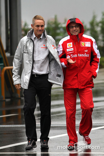 Martin Whitmarsh, McLaren, Chief Executive Officer and Stefano Domenicali, Scuderia Ferrari Sporting Director
