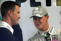 Ralf Schumacher with his brother Michael Schumacher, Mercedes GP