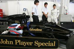 Takuma Sato drives the 1976 Lotus Ford of Gunnar Nilson