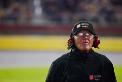 Joe Gibbs watches the race