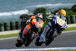 Valentino Rossi, Fiat Yamaha Team and Andrea Dovizioso, Repsol Honda Team