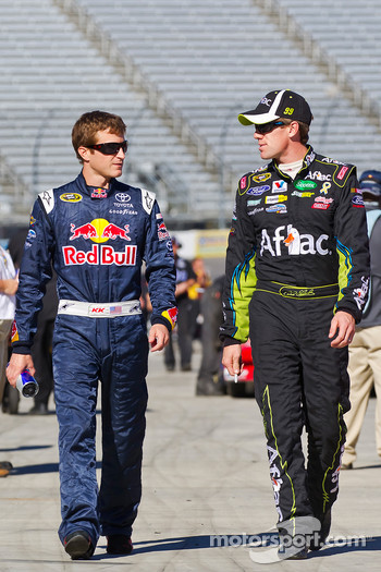 Kasey Kahne, Red Bull Racing Team Toyota and Carl Edwards, Roush Fenway Racing Ford