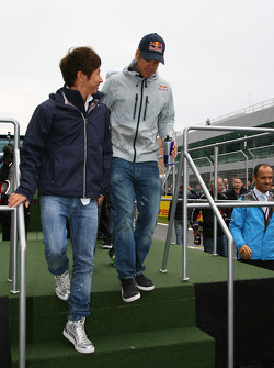 Kamui Kobayashi, BMW Sauber F1 Team and Sebastian Vettel, Red Bull Racing