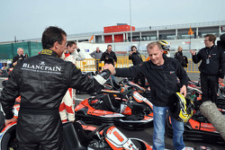 GT1 Karting in Navarra: Peter Kox and Johnny Herbert