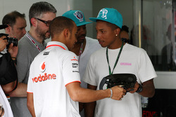 Lewis Hamilton, McLaren Mercedes and Pharrell Williams, Musician