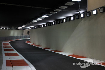 The pitlane exit tunnel