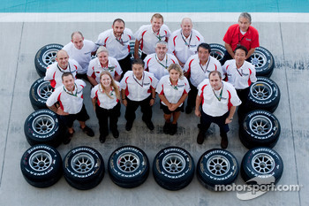 The Bridgestone team pose for a photo