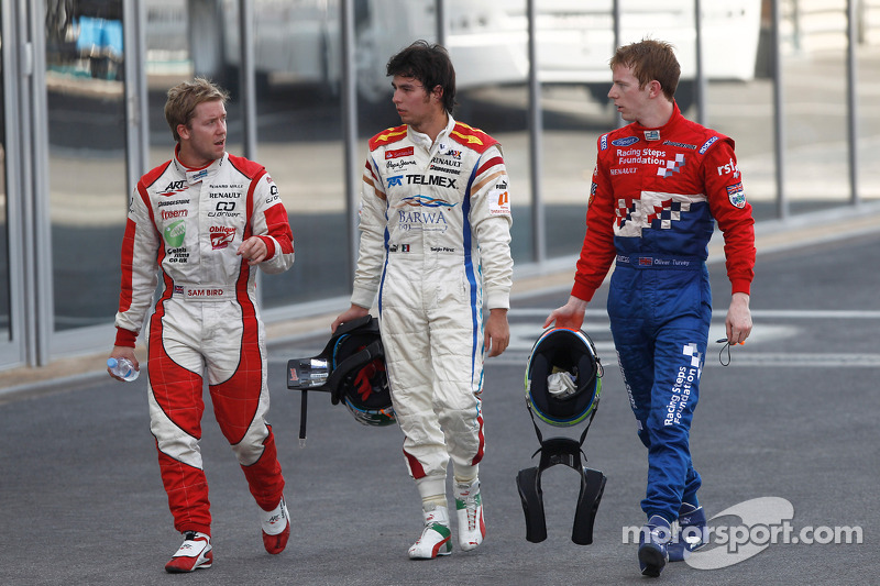 Sergio Perez, Oliver Turvey and Sam Bird