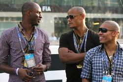 Patrick Viera, Manchester City football player and Vincent Kompani, Manchester City football player