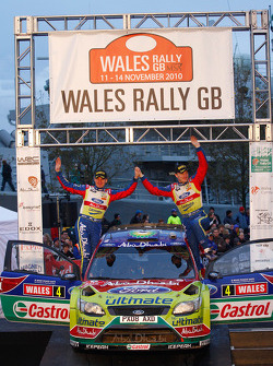Podium: third place Jari-Matti Latvala and Malcolm Wilson
