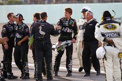 Race winner Carl Edwards, Roush Fenway Racing Ford celebrates