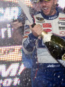 Championship victory lane: NASCAR Sprint Cup Series 2010 champion Jimmie Johnson, Hendrick Motorsports Chevrolet