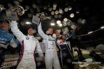 Podium: Nations Cup winners Michael Schumacher and Sebastian Vettel for Team Germany, second place Andy Priaulx and Jason Plato for Team Great Britain