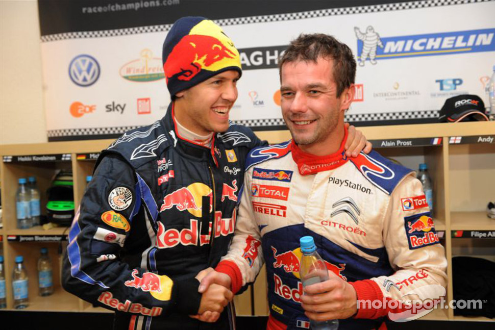 Sebastian Vettel and Sbastien Loeb
