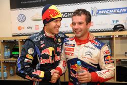 Sebastian Vettel and Sébastien Loeb