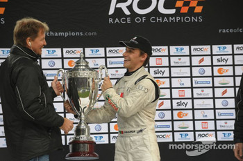 Podium: Race of Champions winner Filipe Albuquerque