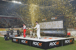 Podium: Race of Champions winner Filipe Albuquerque, second place Sébastien Loeb
