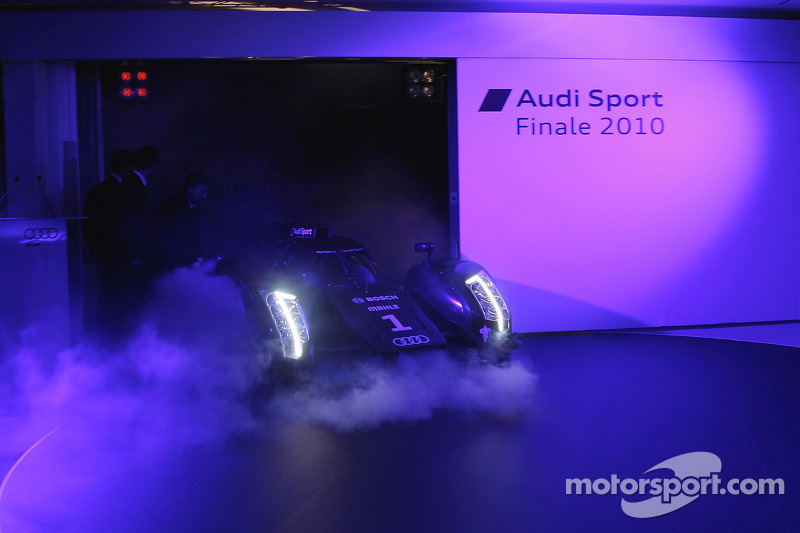 The 2011 Audi R18 TDI is presented to the media