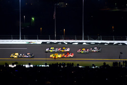 Ryan Newman, Stewart-Haas Racing Chevrolet, Denny Hamlin, Joe Gibbs Racing Toyota, Kurt Busch, Penske Racing Dodge and Jamie McMurray, Earnhardt Ganassi Racing Chevrolet, Jimmie Johnson, Hendrick Motorsports Chevrolet, Greg Biffle, Roush Fenway Racing For