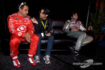 Juan Pablo Montoya, Earnhardt Ganassi Racing Chevrolet and NASCAR Camping World Truck Series driver Nelson A. Piquet