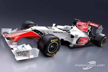 The new HRT Racing HRT F111 design for the 2011 F1 season