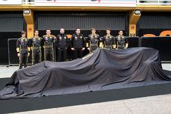 Jan Charouz, Bruno Senna, Robert Kubica, Lotus Renault GP, Gerard Lopez Genii Capital, Lotus Renault GP, Eric Boullier, Team Principal, Lotus Renault GP, Vitaly Petrov, Lotus Renault GP, Romain Grosjean, Ho-Pin Tung