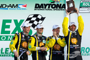 GT podium: third place Patrick Dempsey, Charles Espenlaub, Joe Foster and Tom Long