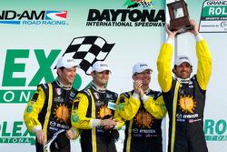 GT podium: third place Patrick Dempsey, Charles Espenlaub, Joe Foster and Tom Long