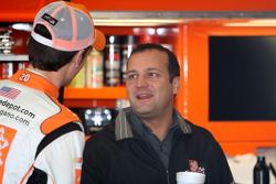 Joey Logano, Joe Gibbs Racing Toyota and Greg Zipadelli