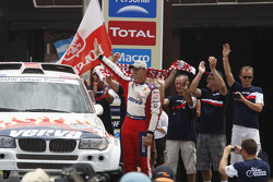 Podium: car category 5th place Krzysztof Holowczyc and Jean-Marc Fortin