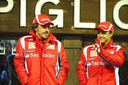 Fernando Alonso, Scuderia Ferrari, and Felipe Massa, Scuderia Ferrari