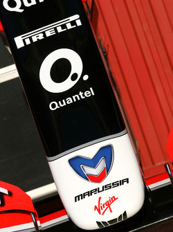 Virgin F1 Team front wing detail