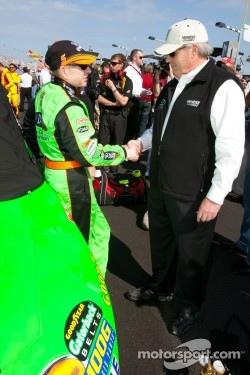 Mark Martin, Hendrick Motorsports Chevrolet with Rick Hendrick