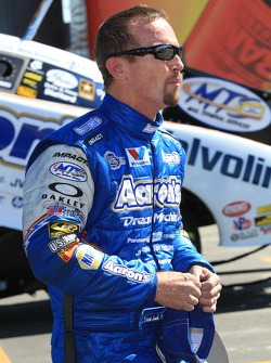 Jack Beckman, driver of the Aaron's / Valvoline Dodge Charger Funny Car