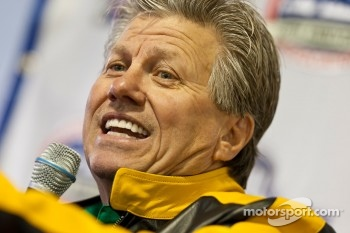 Funny Car Champion, John Force, takes questions during a press conference