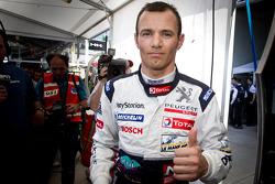 P1 pole winner Stéphane Sarrazin celebrates