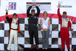 GT3G podium: class winner Glen Gatlin, second place Eduardo Cisneros, third place Michael Levitas