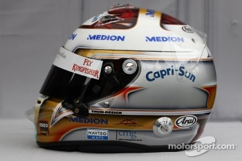 Helmet of Adrian Sutil, Force India