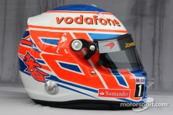 Helmet of Jenson Button, McLaren Mercedes
