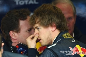 Christian Horner, Red Bull Racing, Sporting Director with Sebastian Vettel, Red Bull Racing