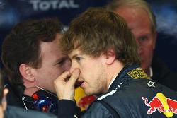 Christian Horner, Red Bull Racing, Sporting Director with Sebastian Vettel, Red Bull Racing