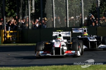 Sergio Perez, Sauber F1 Team and Pastor Maldonado, Williams F1 Team