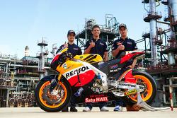 Dani Pedrosa, Casey Stoner and Andrea Dovizioso