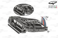 Formule 1 Foto's - Williams FW38 voorvleugel, Hongaarse GP