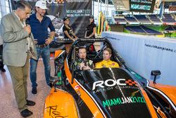 Kurt Busch and Ryan Hunter-Reay with Race of Champions President Fredrik Johnsson